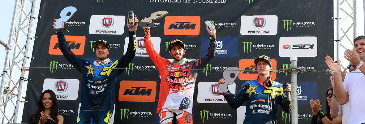 """Tony Cairoli-ს ტრიუმფი """"Fiat Professional MXGP di Lombardia""""-ზე"""